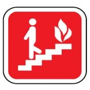 Fire safety sign - Fire Escape 055